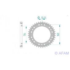 Звезда Afam ведомая 10617-42 #525 H CBR600RR 03-06 (1307.42)