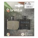 Колодки тормозные Brenta FT3018 Organic (MCB706, BREMBO 7037 , EBC FA283 , FERODO FDB2085)