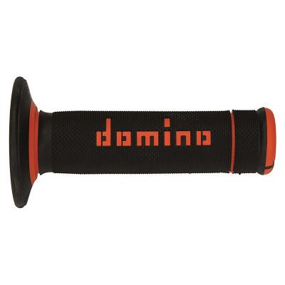 Ручки руля Domino X-treme Half Waffle черный-оранжевый