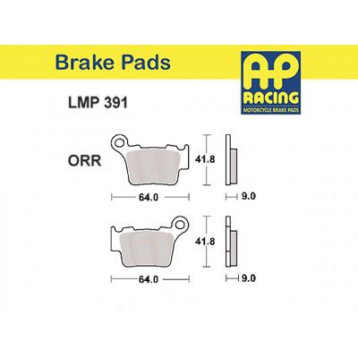 Колодки тормозные AP-RACING LMP391 ORR (891CM44, MCB743)
