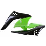 Обтекатель радиатора Polisport K KX250F 06-08 черный/зеленый