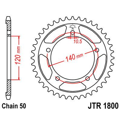 Звезда JT задняя JTR1800.45 #530 S GSXR1000 GSF1200